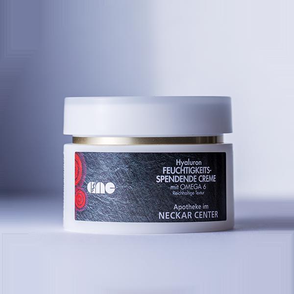Feuchtigkeitsspendende Creme, Hyaluron mit Omega 6 | Apotheke im Neckar Center